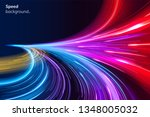 abstract colorful speed... | Shutterstock .eps vector #1348005032