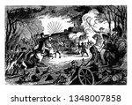battle between general george...   Shutterstock .eps vector #1348007858