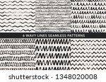 wavy lines hand drawn seamless... | Shutterstock .eps vector #1348020008