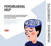 psychology. psychoanalysis. man ... | Shutterstock .eps vector #1348030742