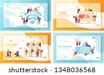set of concept of landing pages ... | Shutterstock .eps vector #1348036568