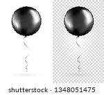 set of black round shaped foil... | Shutterstock .eps vector #1348051475