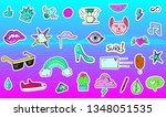 big set of vaporwave styled... | Shutterstock .eps vector #1348051535