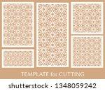 decorative panels set for laser ... | Shutterstock .eps vector #1348059242
