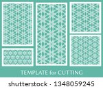 decorative panels set for laser ... | Shutterstock .eps vector #1348059245