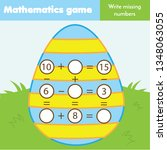 math educational game for...   Shutterstock . vector #1348063055