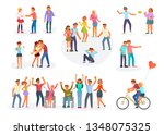 big set of teenagers in... | Shutterstock .eps vector #1348075325