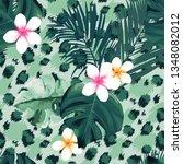 tropical seamless pattern.... | Shutterstock . vector #1348082012