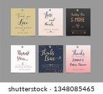 wedding favor tag template  ... | Shutterstock .eps vector #1348085465