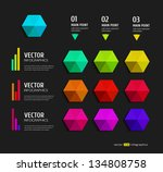 modern colorful infographics... | Shutterstock .eps vector #134808758