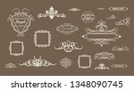 vintage decor elements and... | Shutterstock .eps vector #1348090745