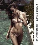sensual young woman realxing in ... | Shutterstock . vector #1348115075