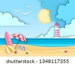 sea or ocean landscape  sea...   Shutterstock .eps vector #1348117355