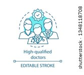 high qualified doctors concept... | Shutterstock .eps vector #1348118708