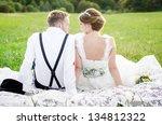 vintage wedding | Shutterstock . vector #134812322