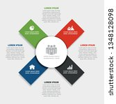infographic design template... | Shutterstock .eps vector #1348128098