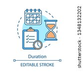 schedule concept icon. time... | Shutterstock .eps vector #1348132202