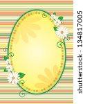 easter egg shaped yellow frame...   Shutterstock . vector #134817005