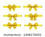 golden  gift  bows set ... | Shutterstock .eps vector #1348176032