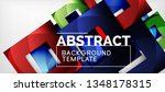 abstract squares geometric... | Shutterstock .eps vector #1348178315