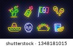 cinco de mayo icons. icon from... | Shutterstock .eps vector #1348181015