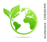 world environmental  saving... | Shutterstock .eps vector #1348181945