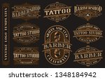 big bundle of vintage logo... | Shutterstock .eps vector #1348184942