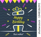 happy birthday greeting card... | Shutterstock .eps vector #1348186592