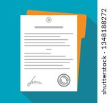contract  document with... | Shutterstock .eps vector #1348188272