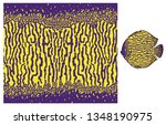 vector fish skin texture print. ... | Shutterstock .eps vector #1348190975