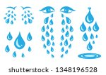 blue cry cartoon tears icon or... | Shutterstock .eps vector #1348196528