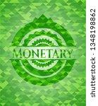 monetary realistic green emblem.... | Shutterstock .eps vector #1348198862