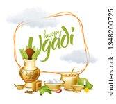 vector illustration. ugadi new...   Shutterstock .eps vector #1348200725