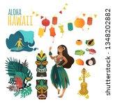 hawaiian culture traditional... | Shutterstock .eps vector #1348202882