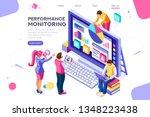 abstract ladder presentation.... | Shutterstock . vector #1348223438