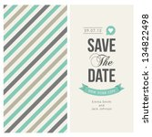 wedding invitation card... | Shutterstock .eps vector #134822498