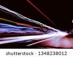 city night lights perspective... | Shutterstock . vector #1348238012