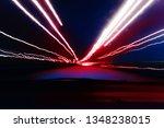 city night lights perspective... | Shutterstock . vector #1348238015