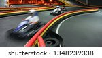 riding in kart indoors at high... | Shutterstock . vector #1348239338