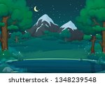 summer  spring night vector... | Shutterstock .eps vector #1348239548