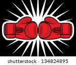 boxing gloves strike | Shutterstock .eps vector #134824895