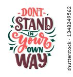 inspirational quote. hand drawn ...   Shutterstock .eps vector #1348249562