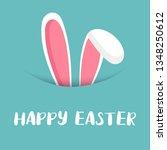 cute easter bunny vector...   Shutterstock .eps vector #1348250612