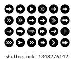 arrows big black set icons.... | Shutterstock .eps vector #1348276142