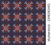 ethnic motifs graphic design... | Shutterstock .eps vector #1348282442