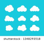 isolated clouds icons. cloud... | Shutterstock .eps vector #1348293518