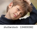 confused little boy | Shutterstock . vector #134830382