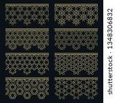 set of golden seamless borders  ... | Shutterstock .eps vector #1348306832