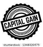 print capital gain stamp on... | Shutterstock .eps vector #1348320575
