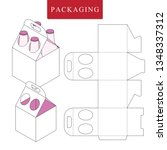 packaging for  can bottle. | Shutterstock .eps vector #1348337312